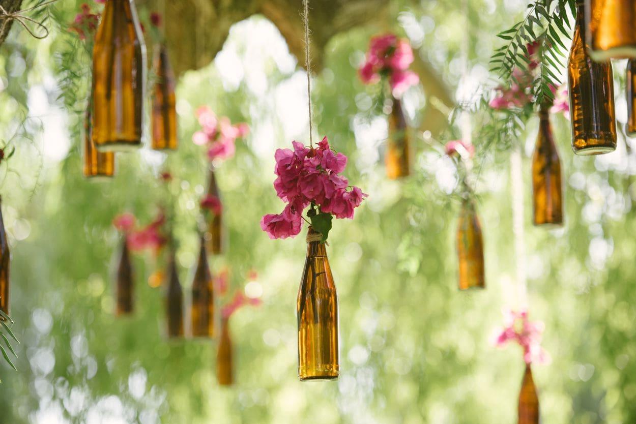 bottles wedding decor